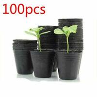 100 Pcs Plastic Nursery Pot Flower Planter Succulent Holder Garden Decor Supply