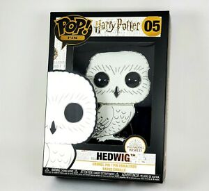 Funko POP PIN HEDWIG CHASE FLOCKED Harry Potter RARE Large Enamel Pin Wave 1 NEW