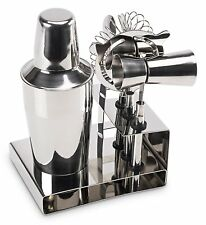 New Stainless Steel Cocktail Shaker Barware Mixer 6 Piece Bar Set Kit (Premium)