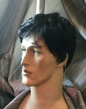 Black /gray Short Wig For Men 100% Kanekalon (made in Japan fiber) NWT