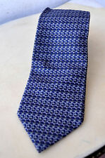 Rare GUCCI Pure Silk Tie Made in Italy Fine Woven Pattern 2-tone Blue Authentic