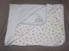 VINTAGE GYMBOREE BABY BOY BLUE WHITE BLUE STRIPE PUPPY DOG FETCH BLANKET SNACKS