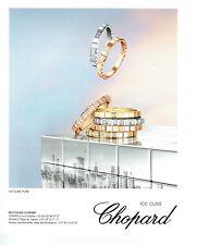 Publicité Advertising 058  2017   Chopard  joaillier  Ice cube pure
