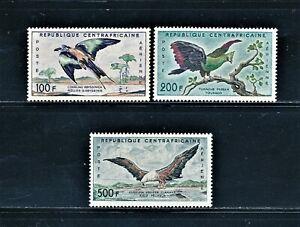 CENTRAL AFRICAN REPUBLIC 1960 BIRDS AIRMAIL SET SCT C1-C3