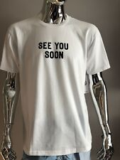 """NEW MENS NEFF """"SEE YOU SOON"""" WHITE T-SHIRT SIZE L"""
