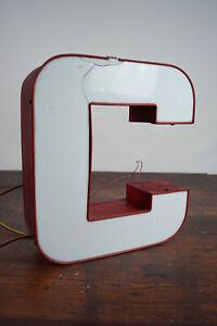 60s Metal Letter C Vintage Leuchtbuchstabe Neon Sign Neon Advertising 70er 1