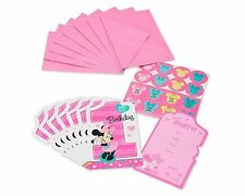 Pack of 8 1st Year Birthday Baby Minnie Mouse- Birthday Party Post Card Invitati
