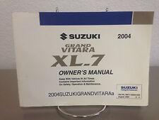 2003 Suzuki Grand Vitara OEM Owner's Manual - Free shipping