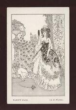 ART NOUVEAU Style Vanity Fair artist A.T.Warbis Line drawing Plain Back Card
