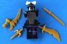 LEGO NINJAGO MINIFIGURE LORD GARMADON 4 ARMS 4 GOLD WEAPONS