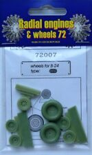 Radial Engines and Wheels 1/72 B-24 Liberator wheels radial Trea