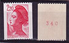 """France NEUF N°2379b """"Liberté de Delacroix"""" 1985 N° rouge au verso Type b"""