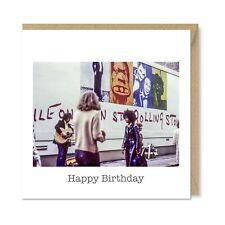Unique Vintage Retro Greetings Card - Exile on Main Street, Rolling Stones Vinyl