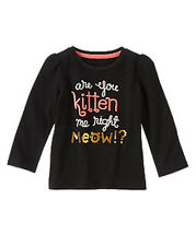 Gymboree RIGHT MEOW  are you kitten me right meow? long sleeve top size 3 3T NWT