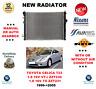 FOR TOYOTA CELICA T23 1.8 16V VT-i TS ZZT230 ZZT231 1999->2005 NEW RADIATOR
