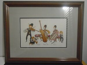 """VINTAGE 1985 P. BUCKLEY MOSS SIGNED PRINT 17.5"""" X 22"""" NUMBER 244 OF 1000"""