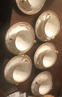 Antique vtg tea cups and saucers  Theodore Haviland Limoges France.