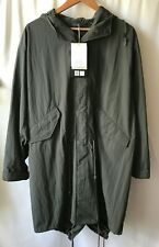 Uniqlo U Lemaire Pocketable Fishtail Parker Jacket Water Repellent GREEN XS NWT
