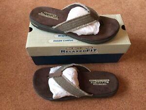 Mens Size Uk 9 Skechers Relaxed Fit Memory Foam 360 Flip Flops/ Sandal