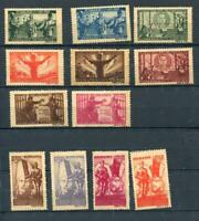Romania 1945 Sc B292-03 Mi 885-96 MH Coarse Grayish paper Russia CV €150 r1374s