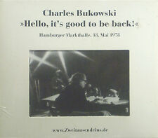 CD Charles Bukowski - Hello, It's Good To Be Back Original Packaging