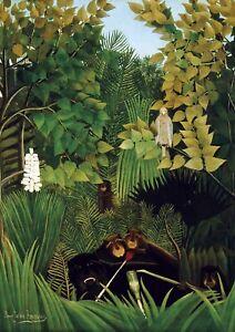 "Henri Rousseau - Huge A1 size Approx 24""X32"" Canvas Wall Print Poster Unframed"