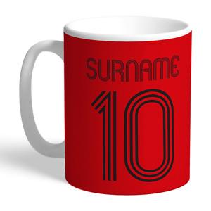 Manchester United F.C - Personalised Ceramic Mug (RETRO SHIRT)