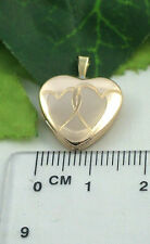 Sassi AU0001 Small 9ct 375 Yellow Gold Entwined Heart Design Heart Shape Locket