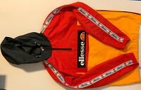 Ellesse Kangaroo Half Zip Windbreaker Hoodie Red/ Yellow Size Medium Brand New