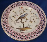 Rare 18thC Furstenberg Porcelain Bird Scene Plate Porzellan Teller Fuerstenberg