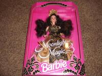 Vintage Barbie Doll Moonlight Magic 1993 MIB 10608 Brunette Limited Edition Gown
