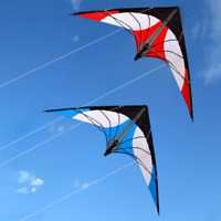 1.8m new Stunt Kite Dual Line Delta Beginner NEW Outdoor Fun sports RED/BULE