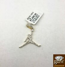 Real 10k Yellow Gold and Diamond Jordan Charm/Pendant for Men/Women, Angel, New.