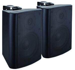 McGEE PA-50 Stereo außen Lautsprecher Boxen Paar mit Wandhalter 2x 80W - NEU