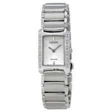 Citizen Euphoria Eco-Drive White Diamond Bezel Stainless Steel Ladies Watch