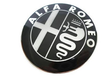 Alfa Romeo Badge Front Bonnet Rear Boot Emblem Black MITO 147 156 159 166 GTV