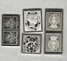 FOUR EUROPEAN SILVER STAMP INGOTS IN MINT CONDITION