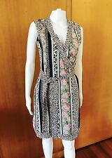 Diane Von Furstenberg-Silk Mix Wrap Dress-Size 6