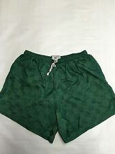 Mens DODGER Green Checkered Nylon Soccer Shorts Sz L Lightweight
