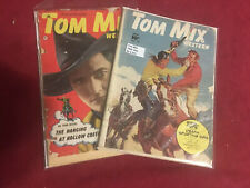 2  Issues of Tom Mix Western Comics  #16 (1949) and #35 (1950)   Fair - Good