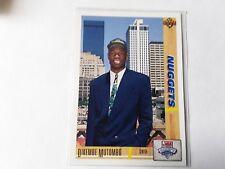 1991 Upper Deck Dikembe Mutombo Georgetown Hoyas/Denver Rookie Basketball Card