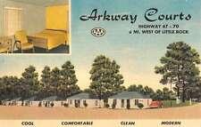 arkway courts west of little rock arkansas L4452 antique postcard