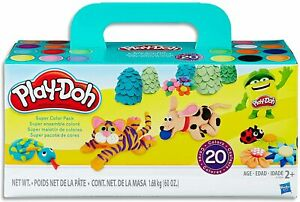 Hasbro A7924 Play-Doh Super Colour Pack inc 20 Tubs of Dough