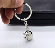 1PC Lovely Metal Mini Pig Keyring Keychain Cute Key Chain Key Ring Charm Decor A
