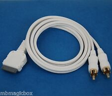 3ft 1M LINE OUT audio RCA cable 4 iPad 2 iPhone 4S 4 3GS iPod Touch Nano Classic