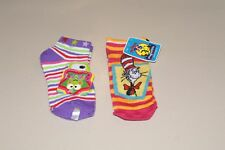 LOT OF 2 GIRLS SZ 7-9 KEROPPI & DR SEUSS SOCKS NWT