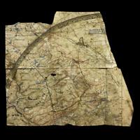 WWI Lt. McKey 134th Field Artillery St. Mihiel Captured German Artillery Map