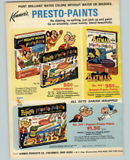 1967 PAPER AD Kenner's Toy Mighty Mouse Popeye Presto Paints Batman Go Go Bug