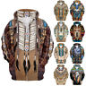 Native American Indian Chief Tribal Totem Ethnic Men Women Pullover Hoodie S-5XL