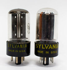 Sylvania 6AX5GT Vacuum Tube Vintage Pair
